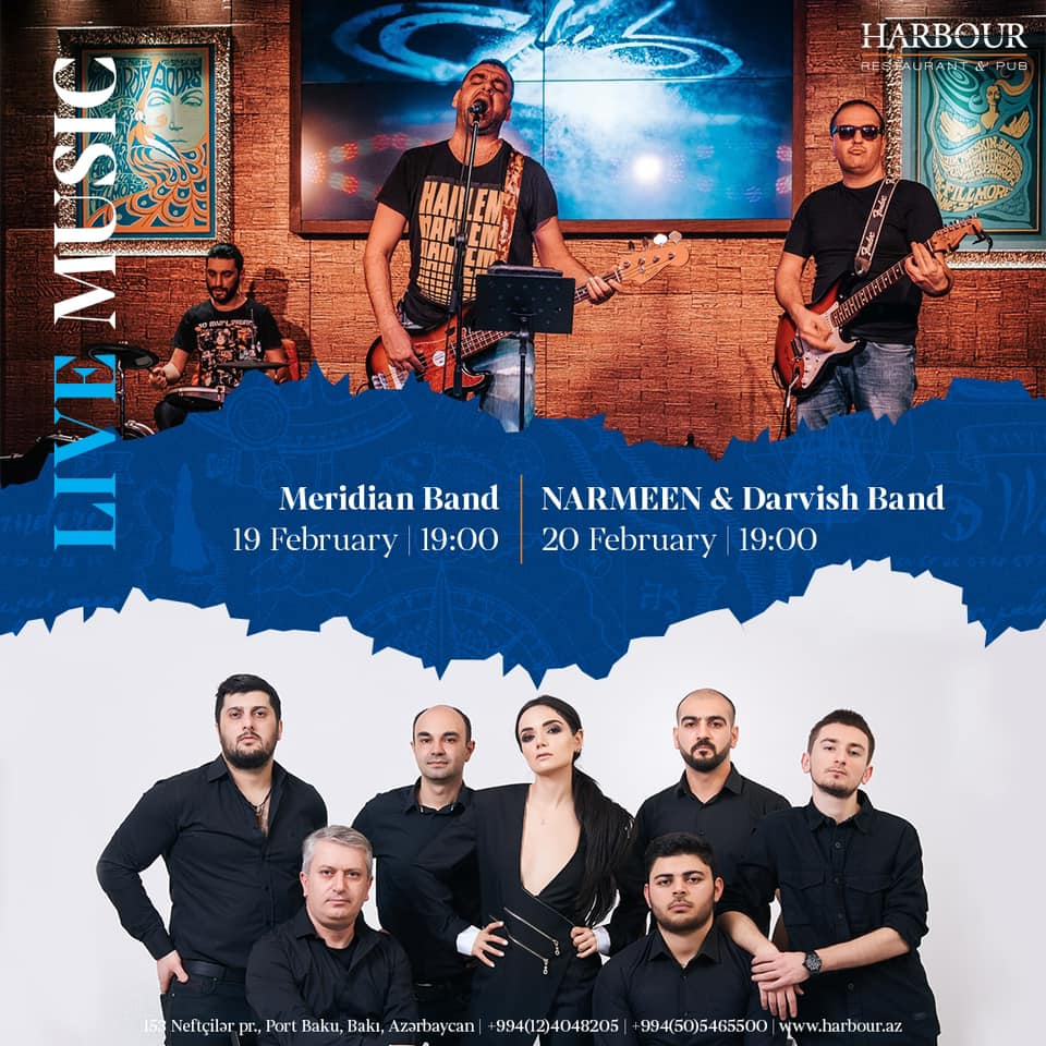 Canlı musiqi - Meridian band ; Narmeen and Darvish band